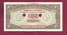 Buy British Armed Forces 1 Shilling 1962 Banknote PM32- 4th Series UNCirculated