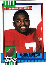 Buy Rodney Hampton #48 - Giants 1990 Topps Football Trading Card
