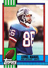 Buy Lionel Manuel #64 - Giants 1990 Topps Football Trading Card