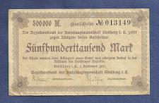 Buy GERMANY 500,000 Mark 1923 Banknote No. 013149 - (Stollberg, Bezirk)