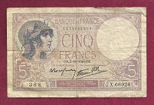 Buy FRANCE 5 Francs 1926 Banknote 1673146389 (P72) - Helmeted Marianne- WWI-II Era!!