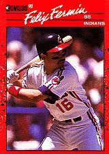 Buy Felix Fermin #191 - Indians 1990 Donruss Baseball Trading Card