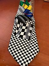 Buy NEW Novelty Car race flag necktie