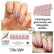 Buy Color Street Dry Nail Polish Strips TOKYO LIGHTS Manicure & Pedicure 95% Dry No Tools