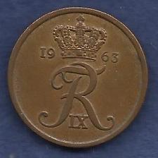Buy DENMARK 5 Ore 1963 Coin