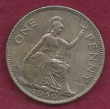 Buy GREAT BRITAIN 1 Penny 1950 Coin (.4713g Silver, 0.925 SILVER, 0.140 oz) - George VI