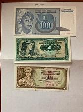 Buy Yugoslavia dinara uncirc. 3 banknotes 1981