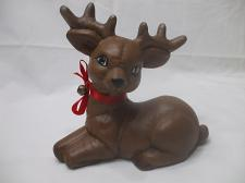 Buy Christmas Brown Reindeer Handmade Clay Holidays