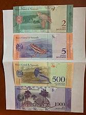 Buy Republica Bolivariana de Venezuela 5 Bolivares 2018 banknote lot of 4
