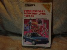 "Buy Chilton's Ford Repair Manual 1981-1992 #8316 ""Escort / Mercury Lynx"""