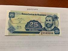 Buy Nicaragua 25 centavo unc. banknote 1991 #abcde