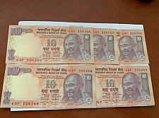 Buy India 10 rupees Gandhi banknote 2015 unc. lot of 5
