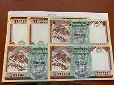 Buy Nepal 10 rupees uncirculated banknotes lot of 5