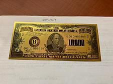 Buy United States $10,000.00 gold foil souvenir banknote