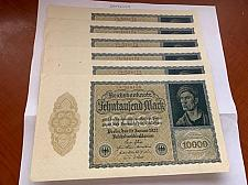 Buy Germany 10000 marks banknotes 1922 lot of 6 : Offers ?