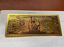 Buy United States $1000,000.00 gold foil souvenir banknote #a