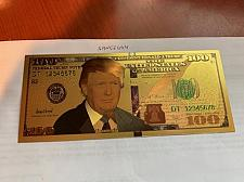Buy United States $100.00 Trump gold foil souvenir banknote
