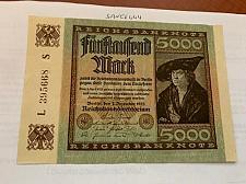 Buy Germany 5000 marks crisp banknote 1922 a