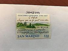 Buy San Marino Giacomo Leopardi 550 lira mnh 1998 stamps