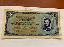Buy Hungary 1 million pengo banknote 1945