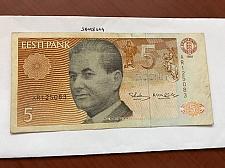 Buy Estonia 5 krooni banknote 1991