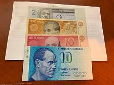 Buy Estonia and Finland lot of 4 banknotes
