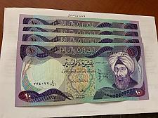 Buy Iraq 10 dinari 4 banknotes 1982