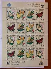 Buy San Marino WWF Butterflies m/s 1993 mnh stamps