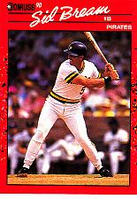Buy Sid Bream #329 - Pirates 1990 Donruss Baseball Trading Card