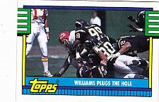 Buy Williams Plugs the Hole #508 - Chargers 1990 Topps Football Trading Card