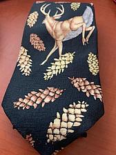 Buy Fantastic Deer and pine cones necktie
