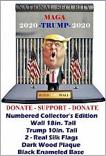 Buy PRES. DONALD J. TRUMP WALL & JUSTICE FOR AMERICANS-$10.00 donated to FOLDS OF HONOR