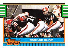 Buy Kosar Calls the Play #505 - Browns 1990 Topps Football Trading Card
