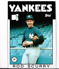 Buy 1986 Rod Scurry Yankees P Topps Card 449