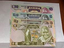 Buy Zambia unc. banknote 1988 lot of 4