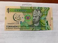 Buy Turkmenistan 1 manat unc. banknote