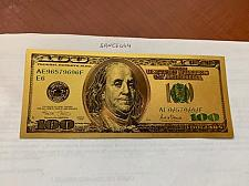 Buy United States $100.00 gold foil banknote