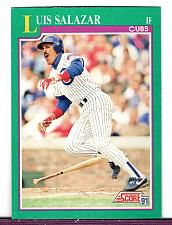 Buy 91 Luis Salazar Cubs IF Score Card 207