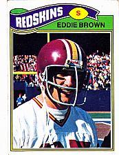 Buy Eddie Brown #231 - Redskins 1977 Topps Football Trading Card
