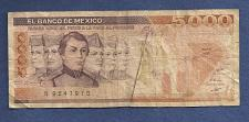 Buy MEXICO 5000 Pesos 1987 Banknote #N9247970 - Santa Anna