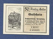 Buy AUSTRIA 50 Heller 1920 Banknote Rofenburg, Notgeld