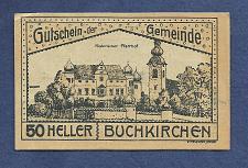 Buy AUSTRIA 50 Heller 1920 Banknote Buchkirchen, Notgeld