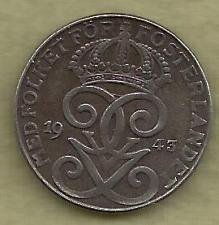 Buy SWEDEN 2 Ore 1943 Coin - WWII Currency