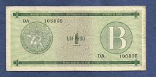 Buy CUBA 1 Peso Exchange Cert PFX6 - ND(1985 SERIAL DA 106805 Series B Fortresses in Cuba