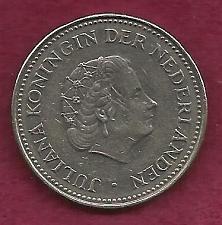 Buy NETHERLANDS 1 Gulden 1970 Coin - Pre-Euro Nickel Coin - Queen Juliana