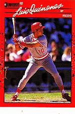 Buy Luis Quinones #595 - Reds 1990 Donruss Baseball Trading Card