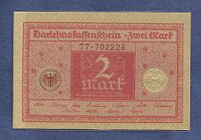 Buy GERMANY 2 Mark 1920 Banknote No 77-702228 - WEIMAR REPUBLIC P59 - UNC