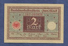 Buy GERMANY 2 Mark 1920 Banknote No 167-995826 - WEIMAR REPUBLIC P60 - UNC