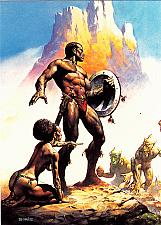 Buy Nubian Warrior #15 - Boris 1991 Fantasy Art Trading Card