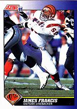 Buy James Francis #50 - Bengals 1991 Score Football Trading Card